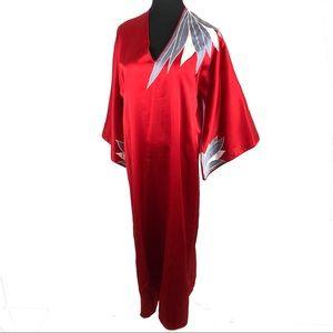 Stunning vintage 70's ox blood robe dress